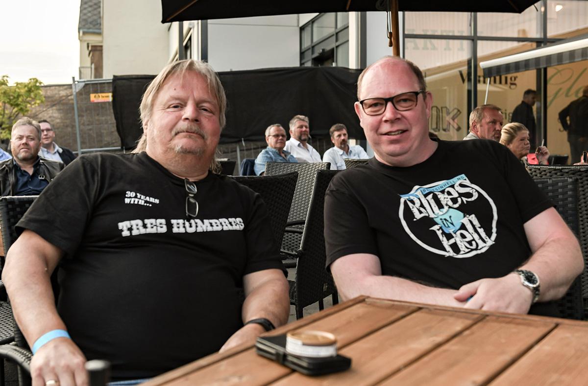 Ildsjeler i Verdal Bluesklubb, Morten Normann (til v.) og Tor Åge Løvstad.